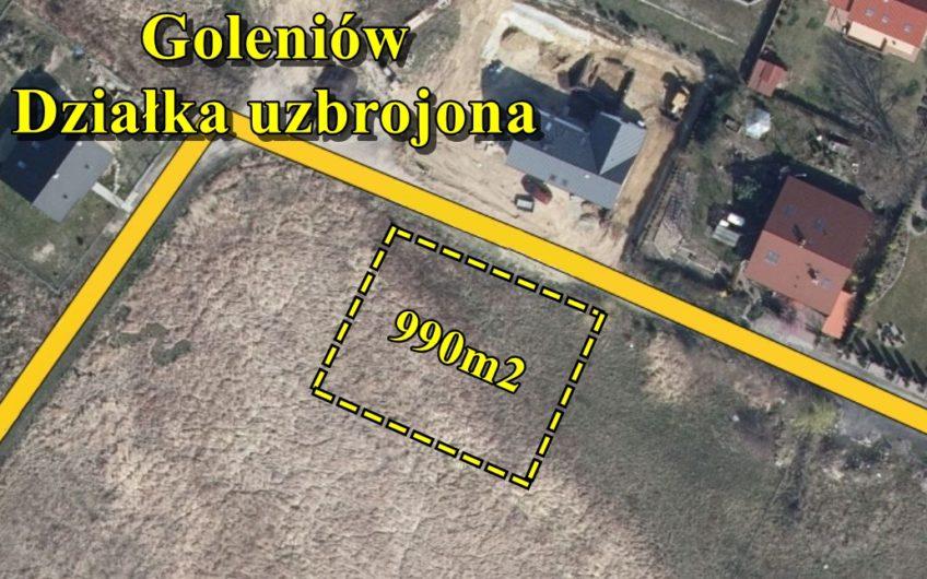 Działka 990 m2 pod zabudowę jednorodzinną uzbrojona, Goleniów