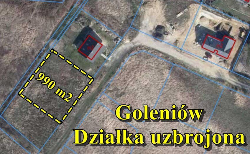 Działka  990 m2 pod zabudowę z mediami,Goleniów
