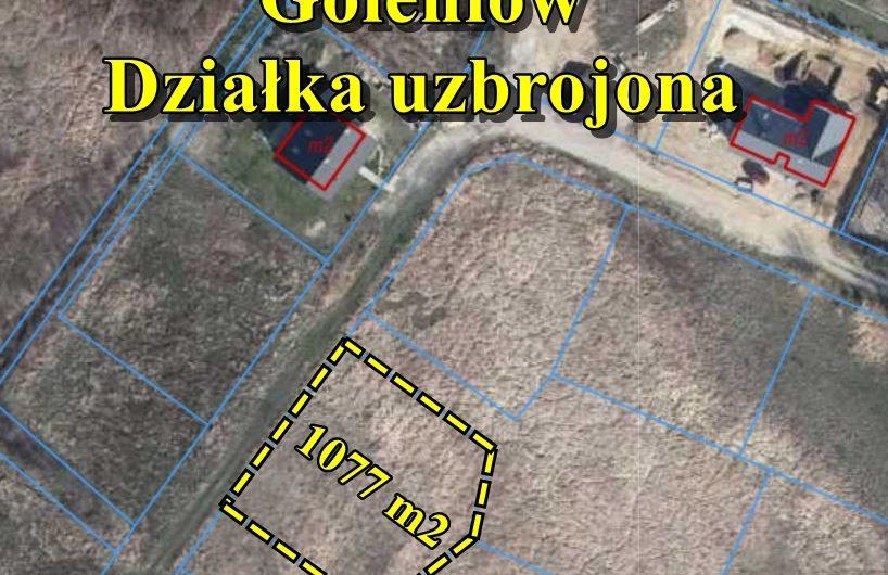 Działka  o powierzchni 1077 m2 pod zabudowę z mediami, Goleniów