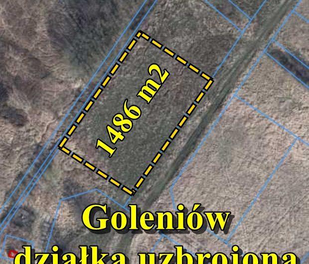 Działka uzbrojona 1486 m2 pod zabudowę mieszkaniową, Goleniów