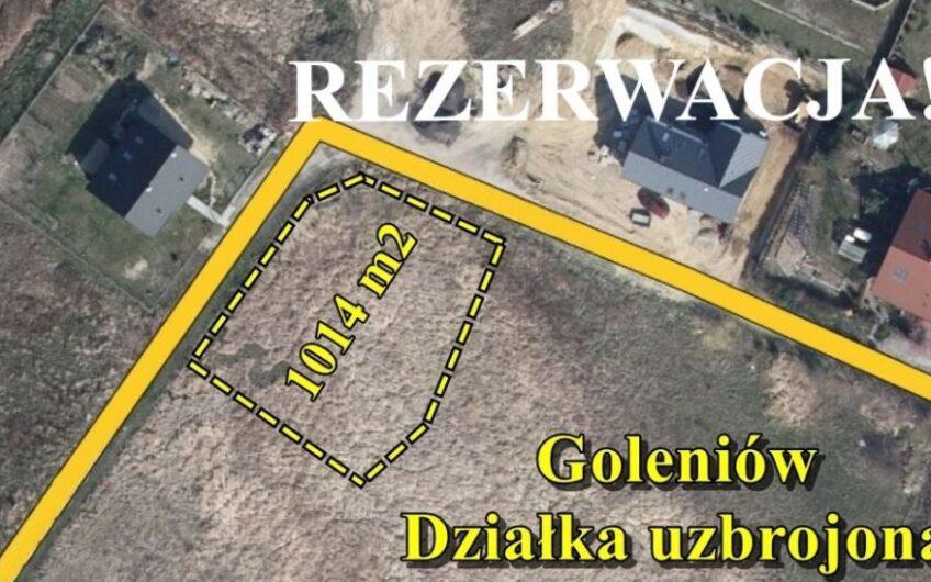 Działka 1014 m2 pod zabudowę z mediami,Goleniów