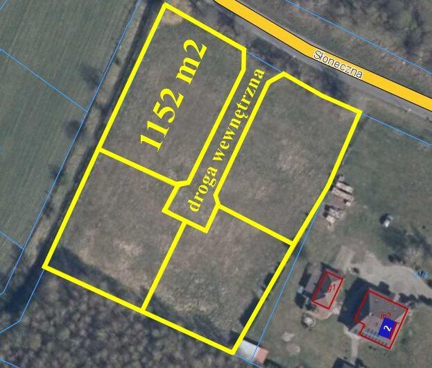 Działka 1152m2 pod budowę mieszkaniową Białuń Goleniów